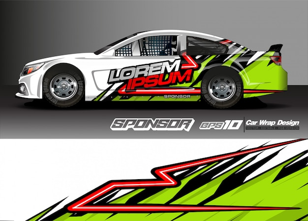 Vehicle graphic kit. modern abstract background for car wrap branding and automobile sticker decals livery