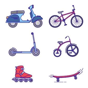 Vehicle illustration icon