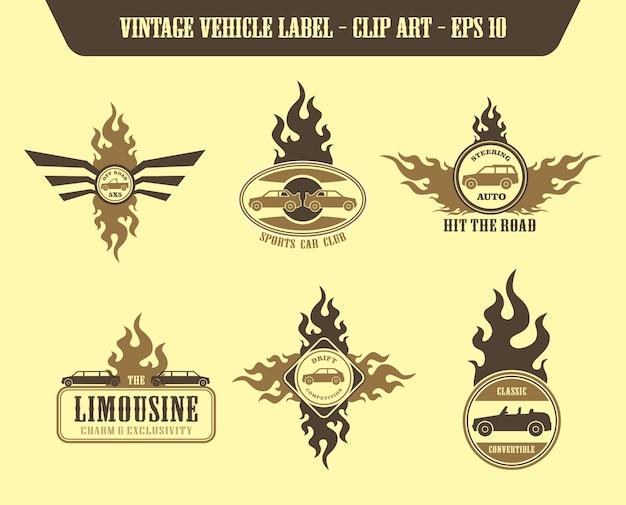 Vehicle label sticker vector graphic art design illustration