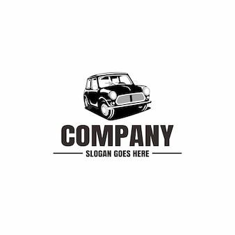 Шаблон логотипа автомобиля. иконка автомобиль для бизнеса. аренда, ремонт, магазин гараж.