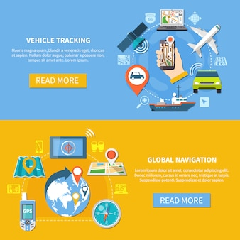 Vehicle tracking navigation banners