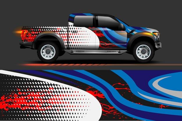 Дизайн автомобильной виниловой пленки с абстрактным фоном полосы гоночной полосы