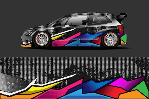 Дизайн автомобильной виниловой пленки со спортивным абстрактным фоном