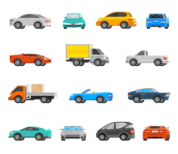 Vehicles icons set