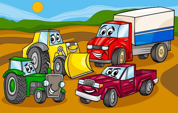 車のマシングループ漫画のイラスト