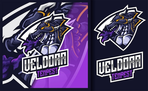 Veldora tempest the wind dragon mascot gaming logo