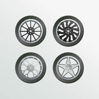 Velg car set object collection car wheel 이미지