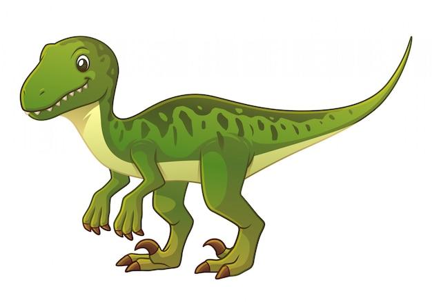 Velociraptor cartoon illustration