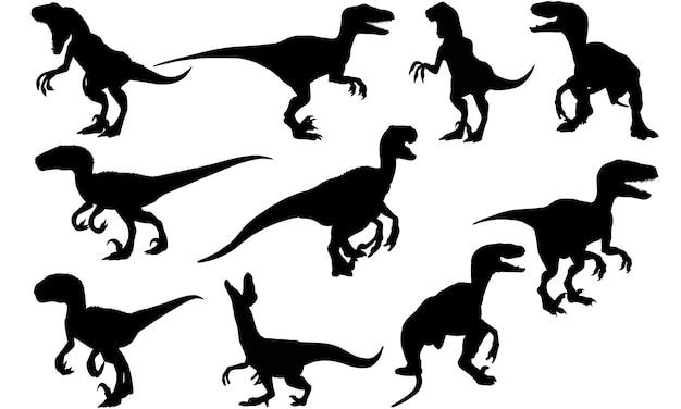 ヴェロキラプトル恐竜シルエット