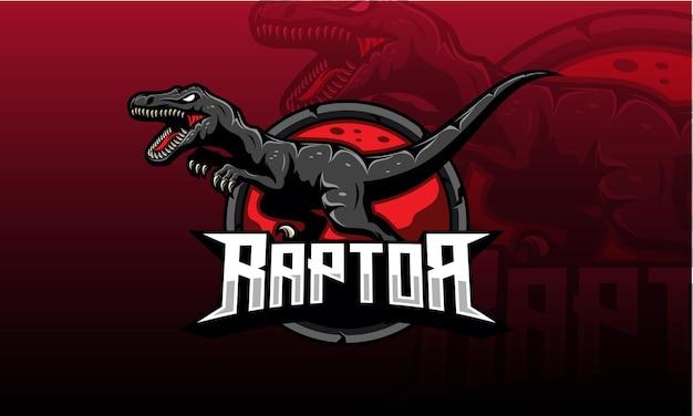 Логотип velociraptor esport