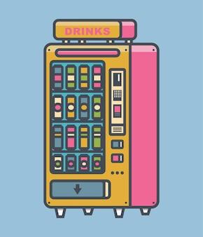 Торговый автомат для упаковки напитков набор векторных иллюстраций торговый автомат для напитков