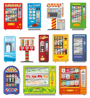 Vending machine, food and drink automatic selling