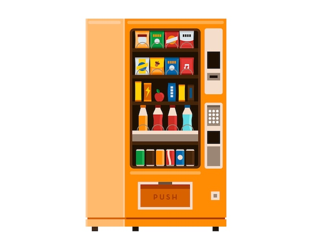 Vending machine snack and drink