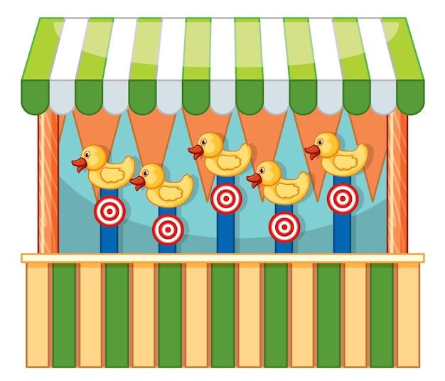 Design del venditore con anatre e bersagli