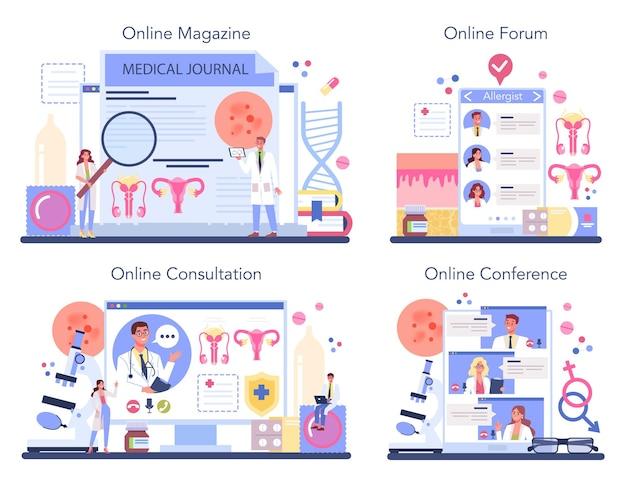 性病科医のオンラインサービスまたはプラットフォームセット