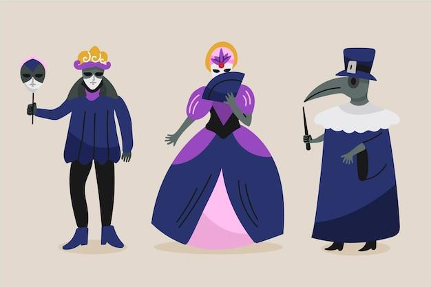 Венецианские карнавальные костюмы персонажей