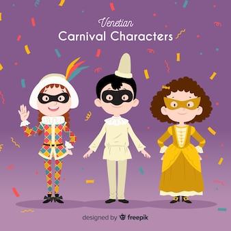 Венецианские карнавальные персонажи