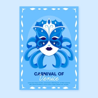 냉동 마스크 베네치아 카니발 포스터 템플릿