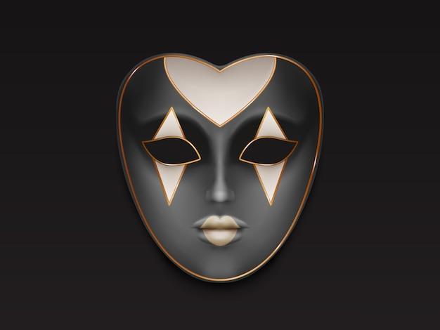 Venetian or mardi gras carnival, holiday masquerade