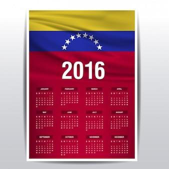 Venezuela calendar of 2016