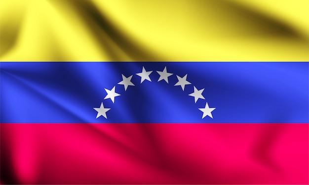 Венесуэла флаг развевается на ветру.