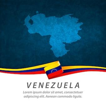 Флаг венесуэлы с центральной картой