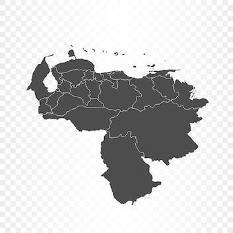 ベネズエラマップ分離レンダリング