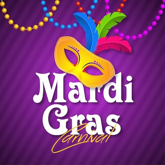 Venice carnival banner  for mardi gras