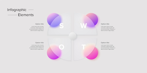 Venn diagram in glassmorphic circle infographic template overlapping circular shapes for logic graphic illustration
