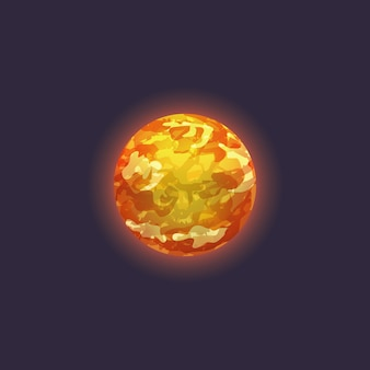 Venus planet in deep space icon
