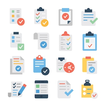 Verified task list icons pack