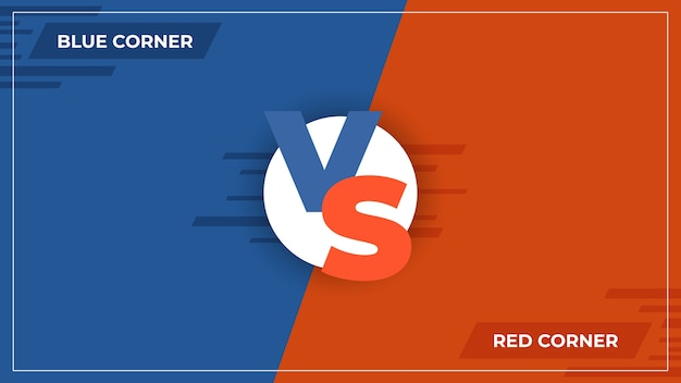 Versus background. vs comparison logo, comic sport competition concept, game battle blue and red team poster.  versus compare illustrations