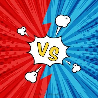 Sfondo versus con disegno colorato
