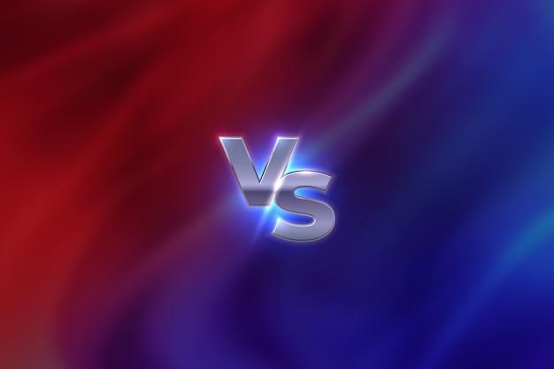 対概念。対文字スポーツ競争のエンブレム、ゲームの戦いのコンセプト、mmaバナー画面。