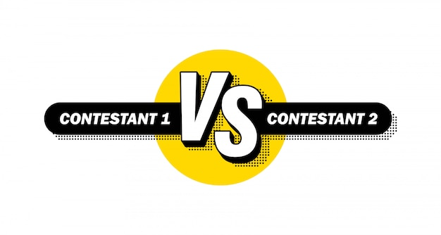 Versus conflict duel between teams.