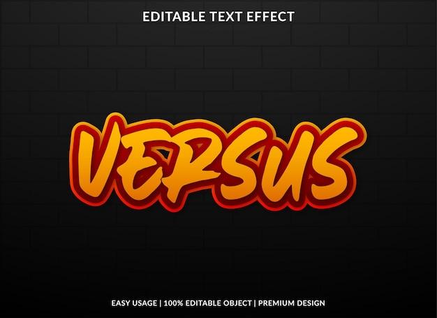 Versus editable text effect template premium style