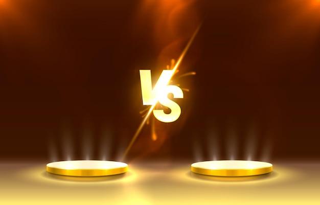 Обложка игры versus, баннер спорт против, концепция команды