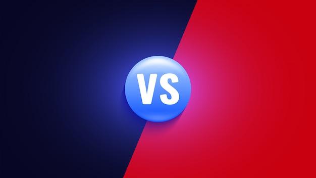 아이콘 대. vs 싸움 상징.