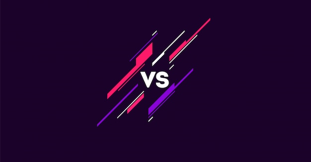 Versus logo in dark  with simple elements flat . vs letters for sports and fight competition. mma, battle, vs match, game concept competitive vs.