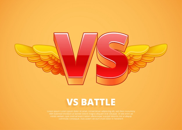 Versus logo. letters for sports and fight competition.