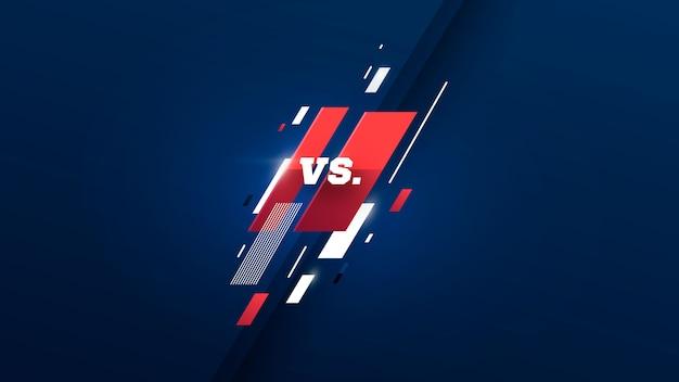 Versus logo против букв для спортивных состязаний и соревнований по борьбе. векторная иллюстрация
