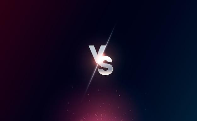 Versus logo против букв для спортивных состязаний и соревнований по борьбе. битва против матча, концепция игры конкурентоспособна