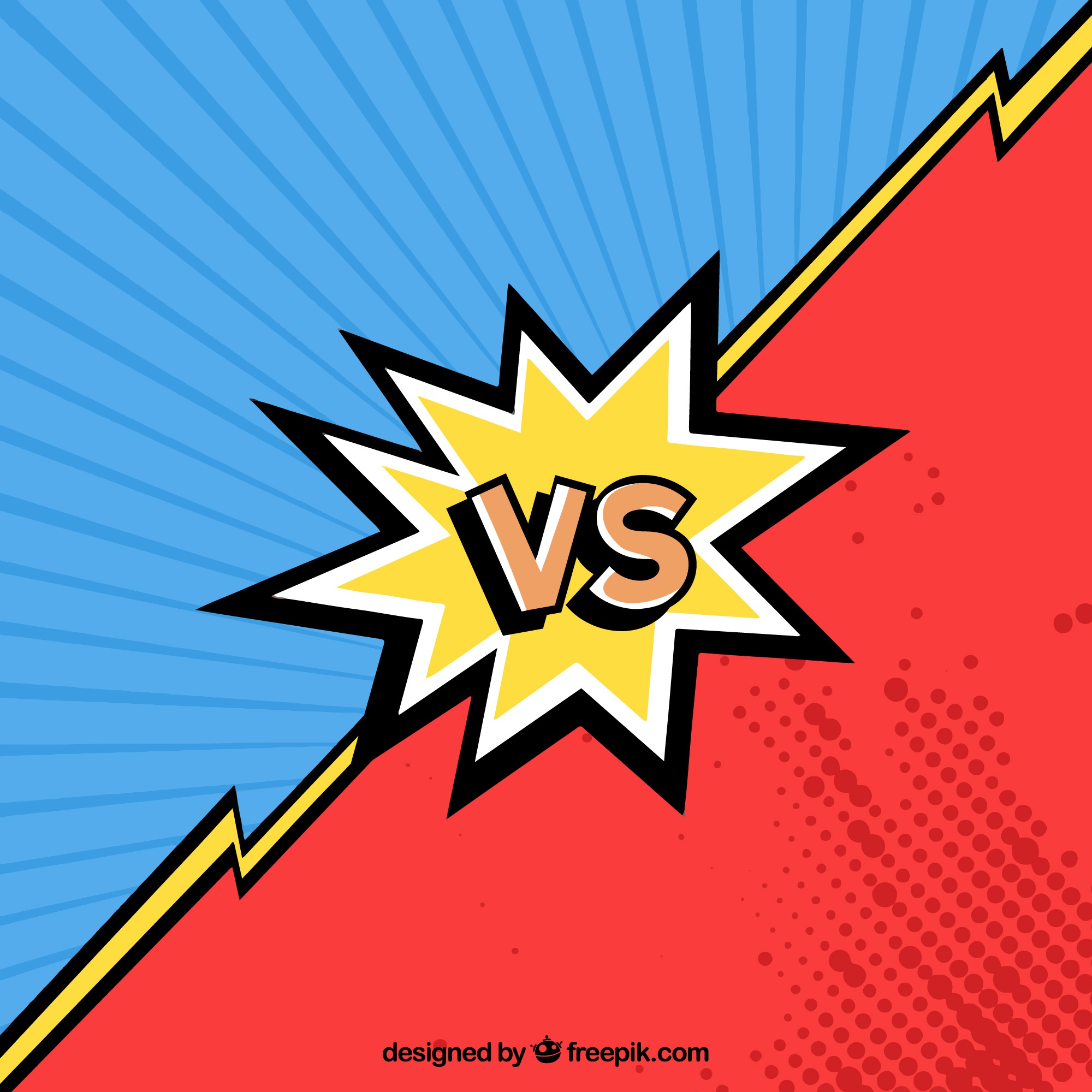 Versus red and blue background
