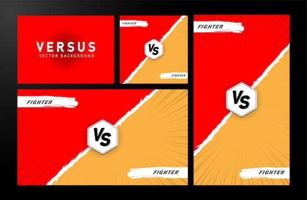 Versus . red orange yellow color.