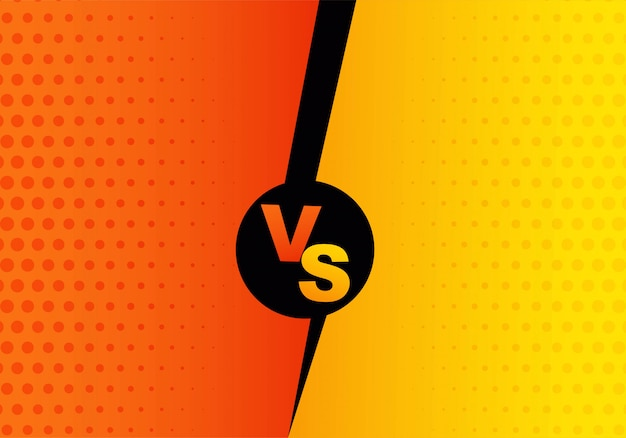 Versus screen background orange and yallow