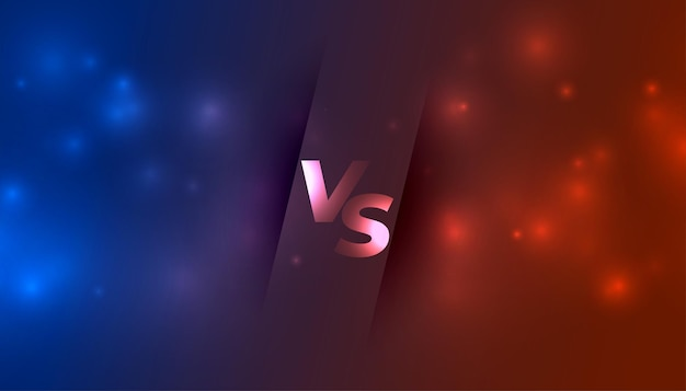 Versus vs banner con scintillii luminosi