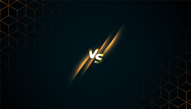 Versus vs batter screen game sports background