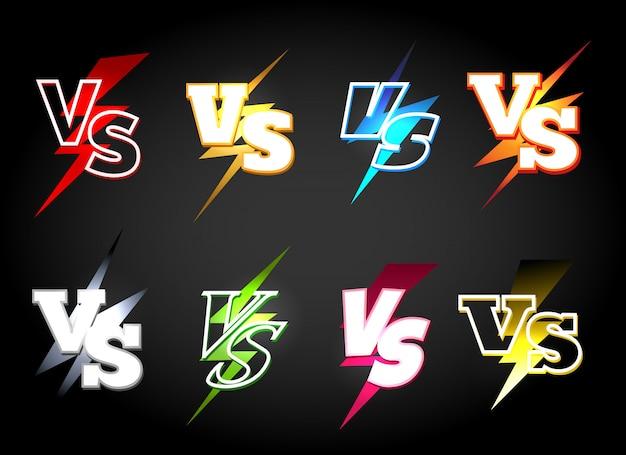 Versus or vs confrontation icon