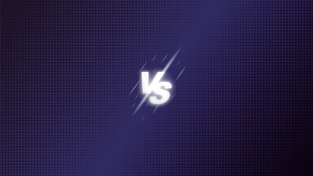 Versus vs fight battle screen background halftone. premium