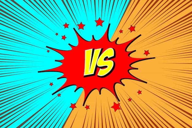Versus. vs. fight comics style